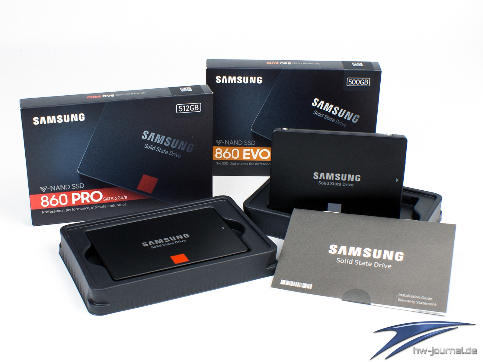 Test: Samsung 860 Evo 500GB & 860 Pro 512GB - Hardware-Journal