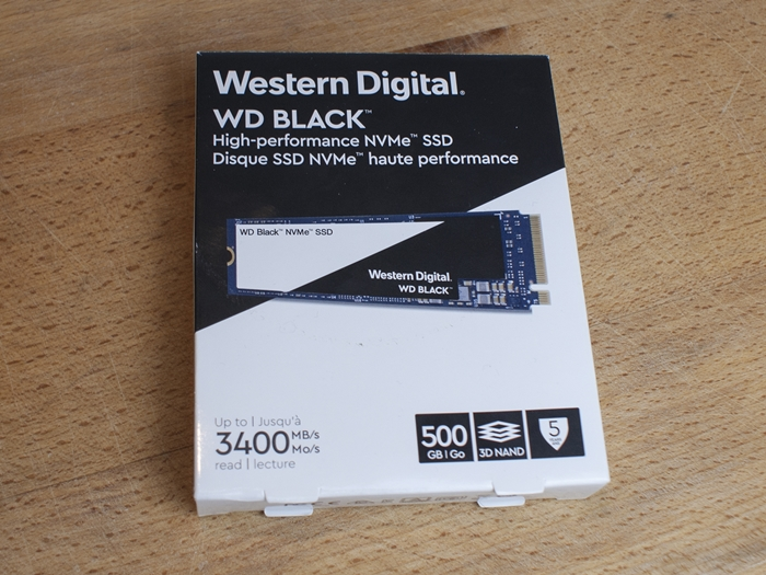 Western Digital WD Black NVMe SSD 500GB 1k