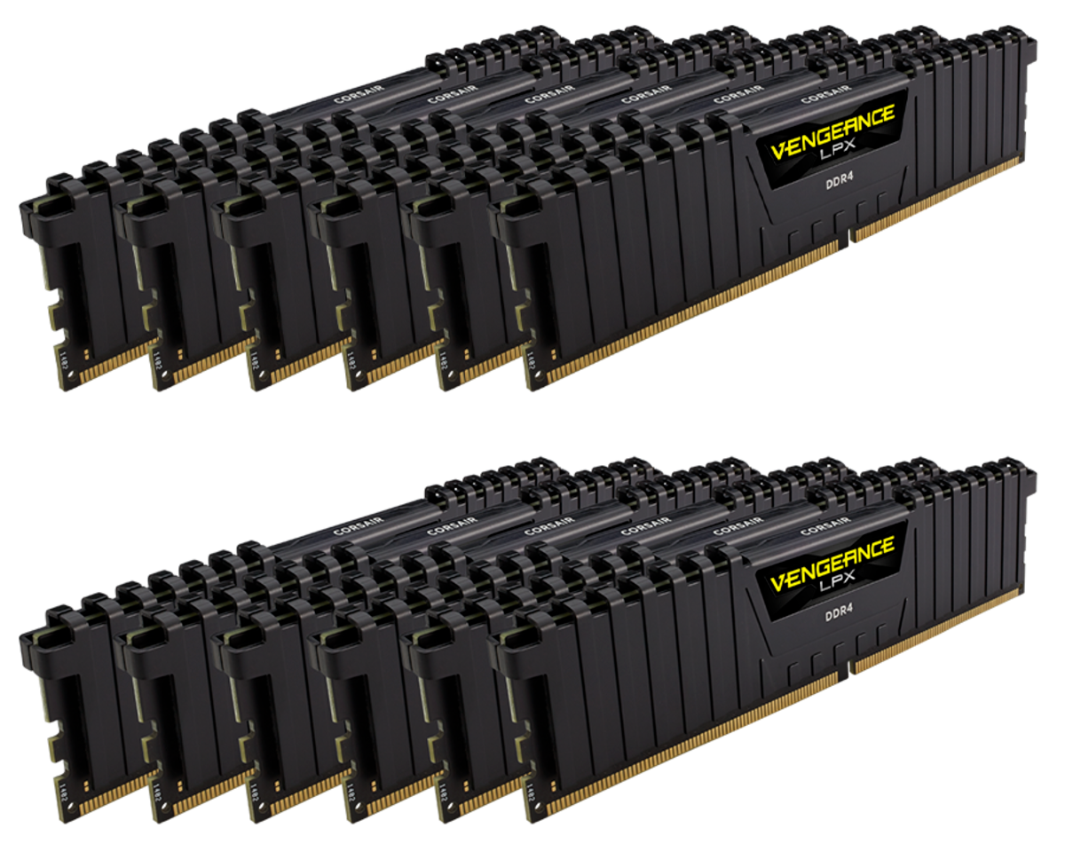 Corsair Vengeance LPX DDR4 12 96GB 192GB Intel Xeon W 3175X 2