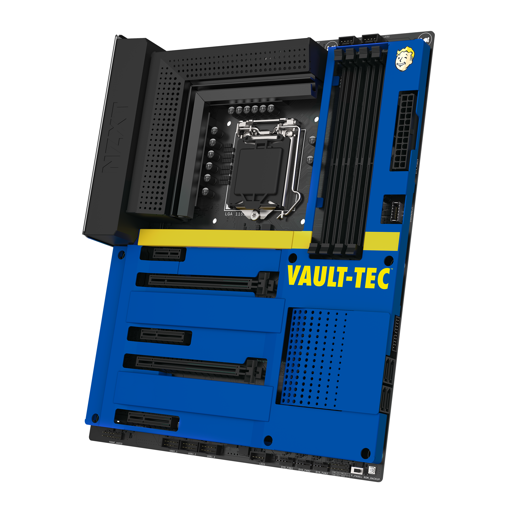 NZXT N7 Z390 Vault Boy Cover 1