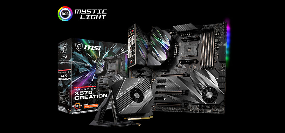 msi prestige x570 creation motherboard overall