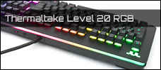 Thermaltake Level 20 RGB Tastatur Newsbild