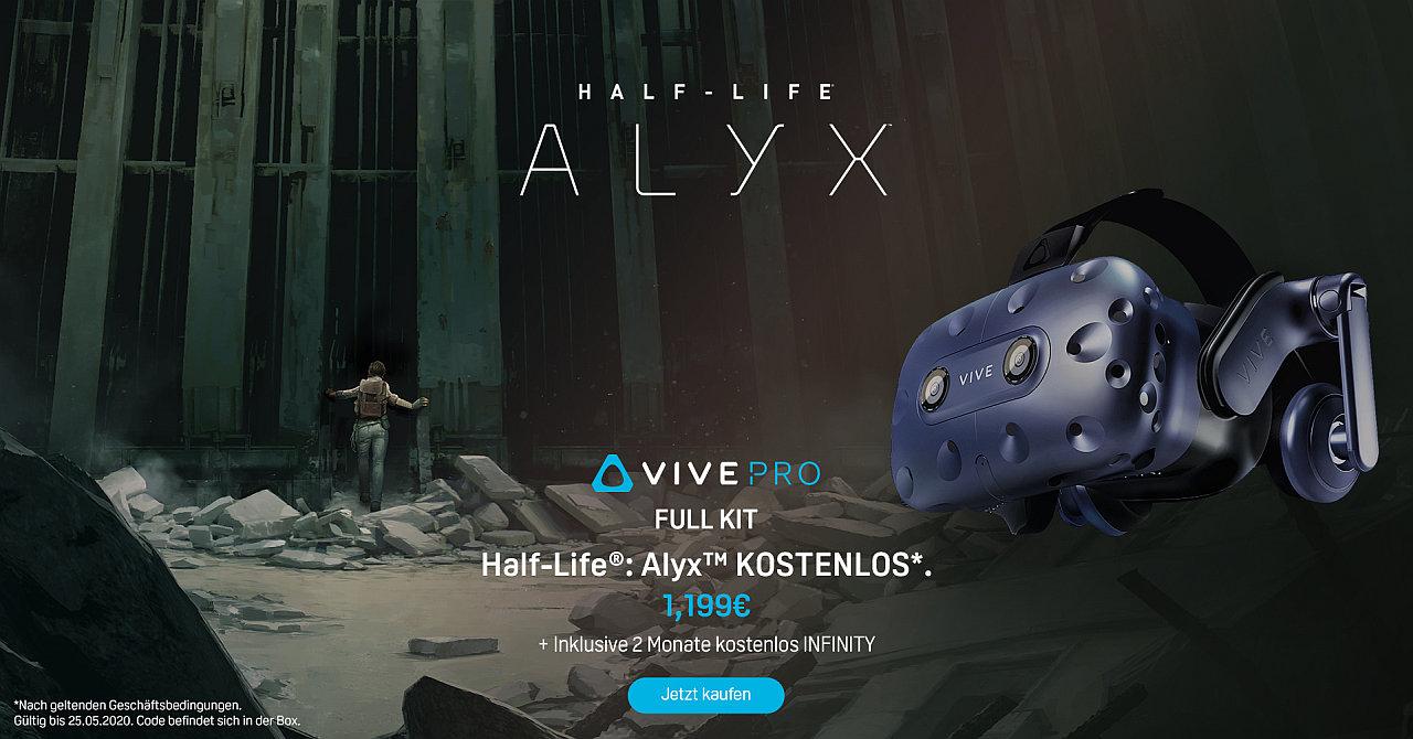 HTC Vive Pro Full Kit jetzt mit Half-Life: Alyx