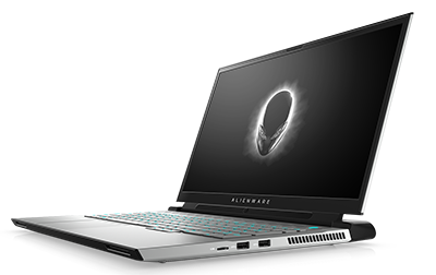 Alienware m17 R4 White with Tobii Faced Left